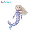 winter style brand plush stuffed bent tail mermaid dolls diy with gloves and cloak girls gift