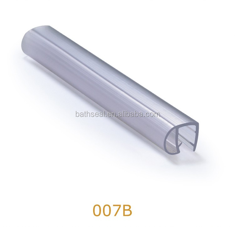 Shower Room Robust Extruded Glass Lip Buffer Sealing