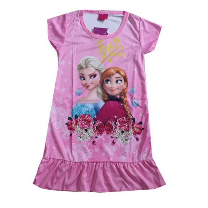 Get Quotations · 4pcs lot Snow Queen Elsa Anna Girls Summer Cartoon Dress  Fantasy Rose Flower Kid Pajamas 5edee20db
