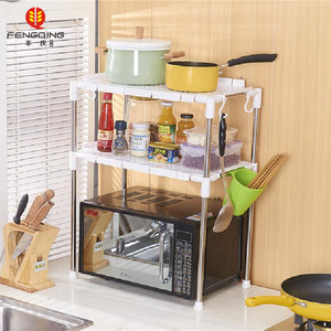 Extendable steel shelf microwave oven grill rack stand kitchen accessories storage rack