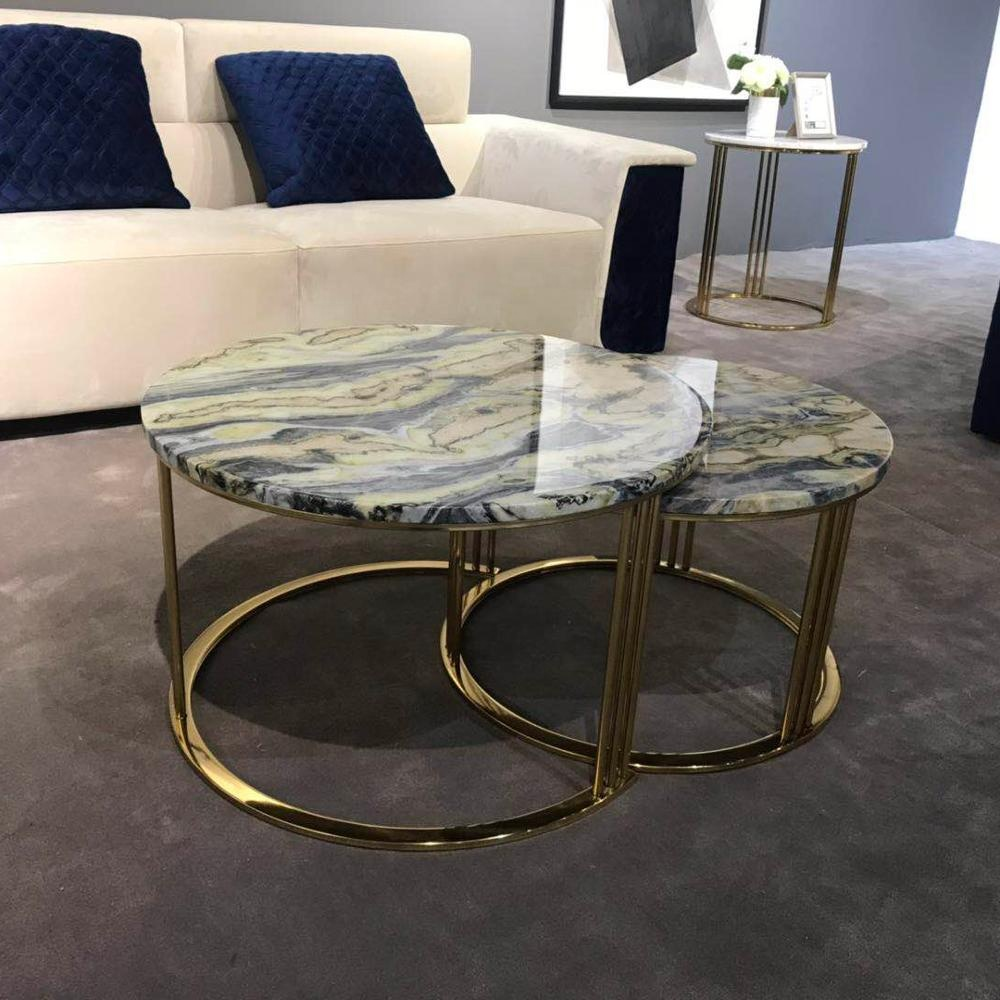 Natural Marble Nesting Coffee Tables