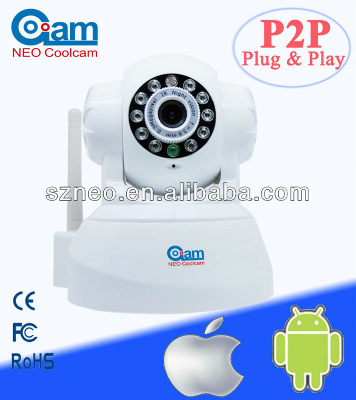 Mini wif nightvision baby moitor security network Wireless P2P IP camera NEO coolcam