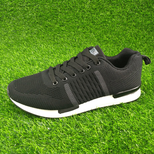 Good quality wholesale custom athletic men women knitting sport shoes
