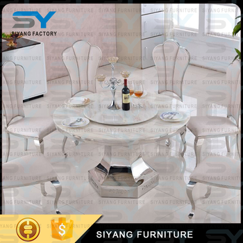 Home Furniture Round Dining Table Set Marble Used Banquet Tables For Ct030