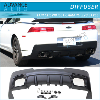 2014 2015 chevy camaro z28 style rear diffuser lip spoiler. Black Bedroom Furniture Sets. Home Design Ideas