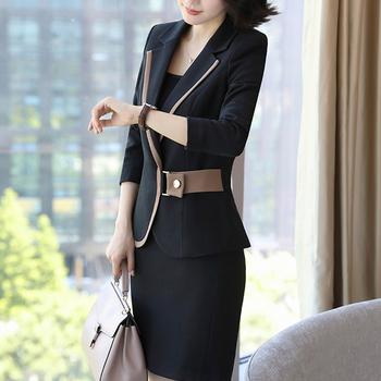 23e61dfa350 Custom Design Business Women Skirt Suit
