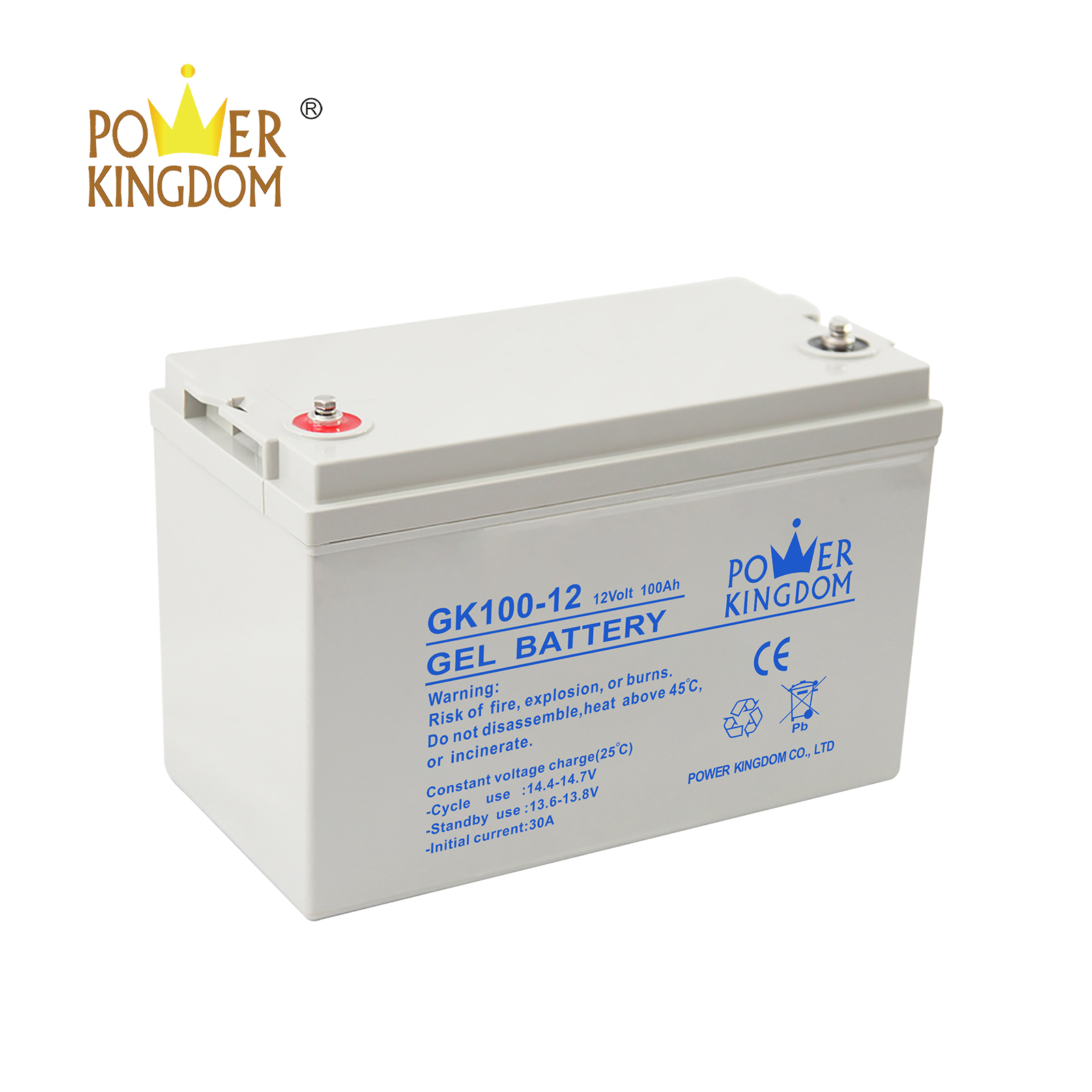 Power Kingdom 12v lead acid car battery with good price wind power system-2