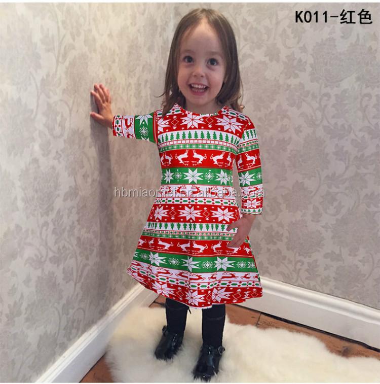 54b931d12 Princess Wear Christmas Dress Stripe One Piece Dress 3-5 Year Old ...