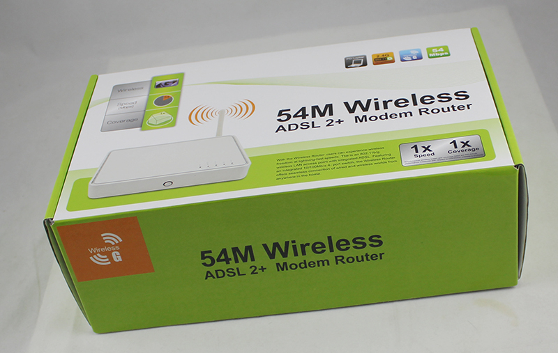 54Mbps ADSL Modem Wifi Router Modem with RJ45 Port Thomson TG585 V7