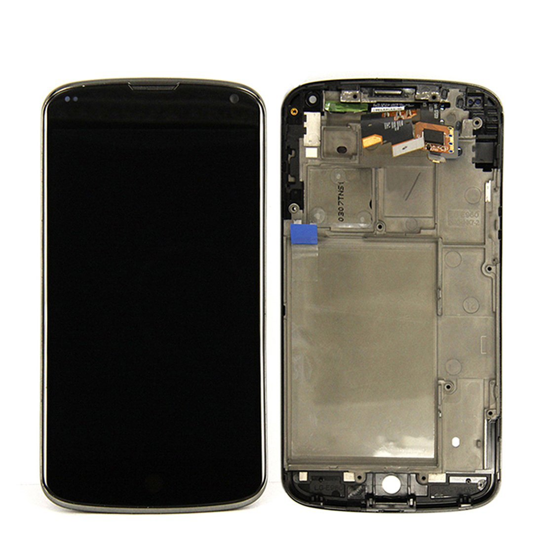 ePartSolution-OEM LG Google Nexus 4 e960 LCD Touch Digitizer Screen Assembly with Housing Frame Replacement Part USA Seller