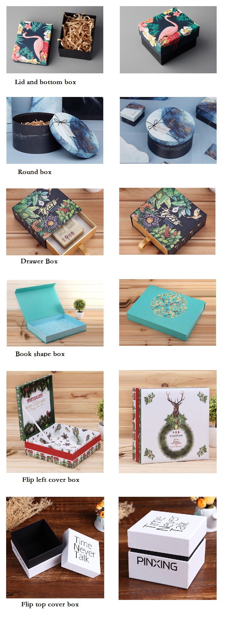 Custom printing tarot cards booklet and box