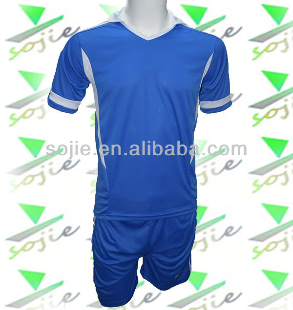 wholesale new design fashion blue football training suits