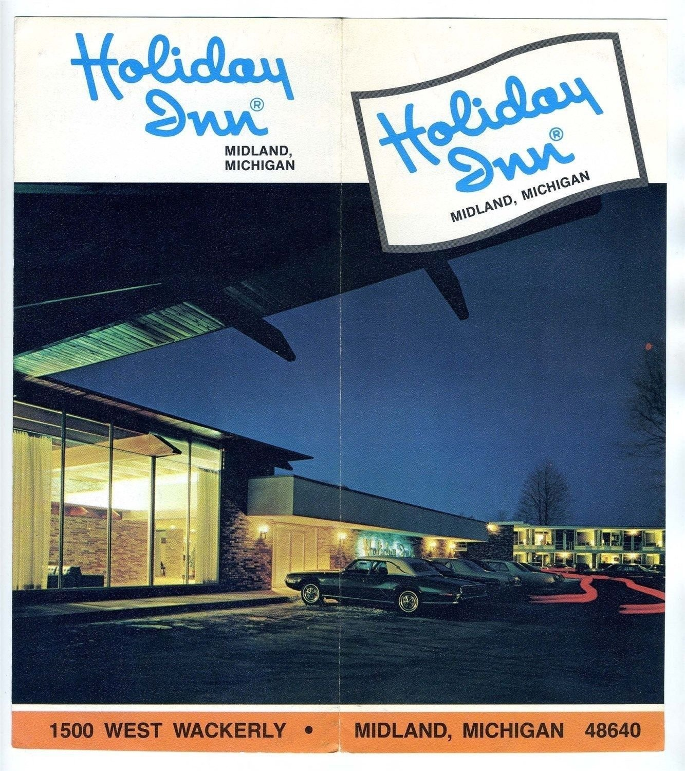 Holiday Inn Brochure West Wackerly in Midland Michigan 1970's