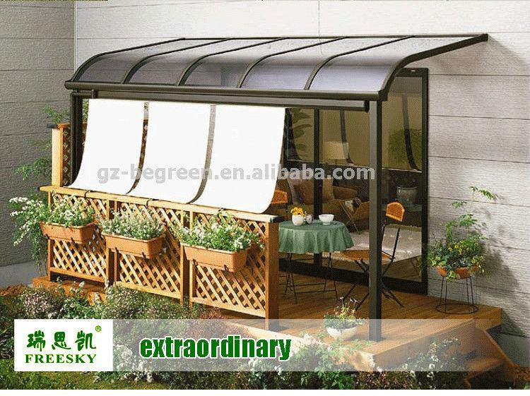Metal Decorative Garden Gazebos Luxury Balcony Patio Cover For