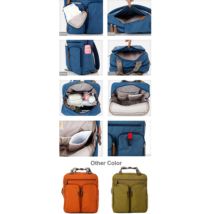 Male Travel Diaper Backpack Baby Nappy Bags Tote Handbag Purse