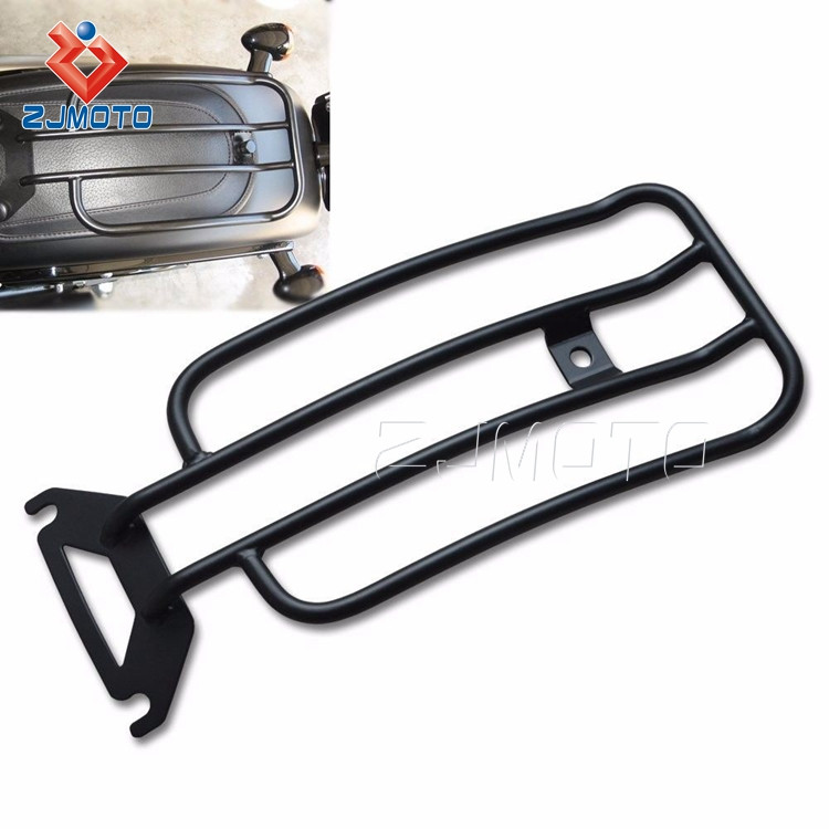 Black Solo Seat Luggage Rack For Harley Davidson Sportster 883 XL1200 2004-2015