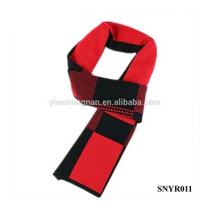 Winter Necessary Men Elegant Casual Plaid Knitted Wool Scarf