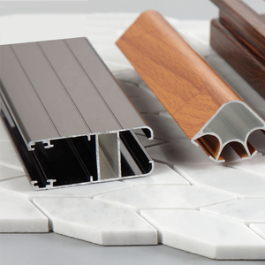 Good price wood color aluminium profile to make doors and windows