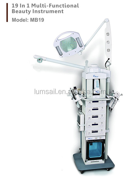 Multifunction beauty equipment 19 in 1 skin care machine in salon use