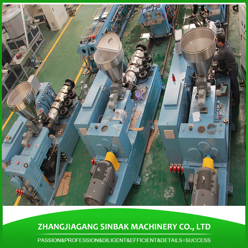 SINBAK best selling 16 - 63mm dual full form of ppr pipe extruder making machine pe pipe production line
