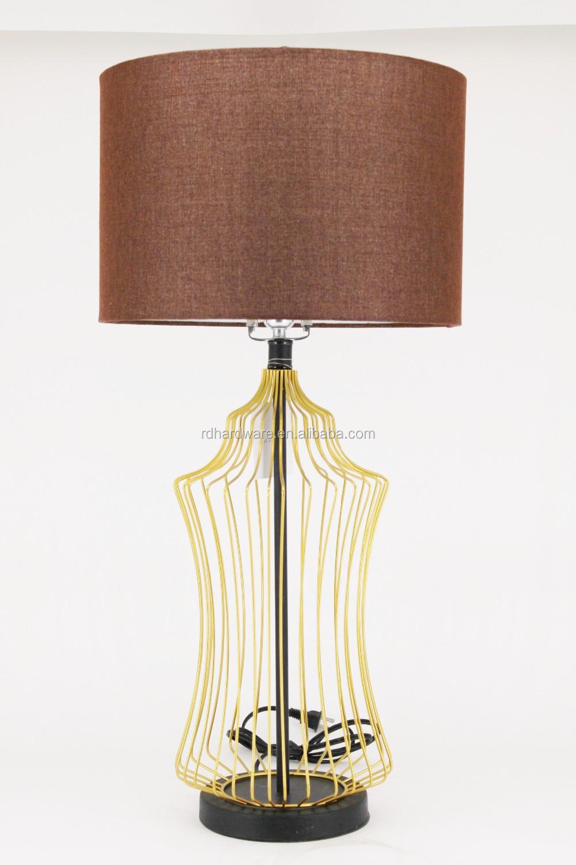 Wholesale Bedside UL Iron Hotel Bedroom Modern Table Lamp Desk ...