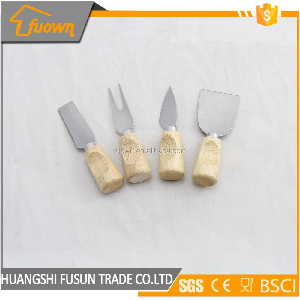 Kitchen utensils stainless steel wood handle cheese butter knife