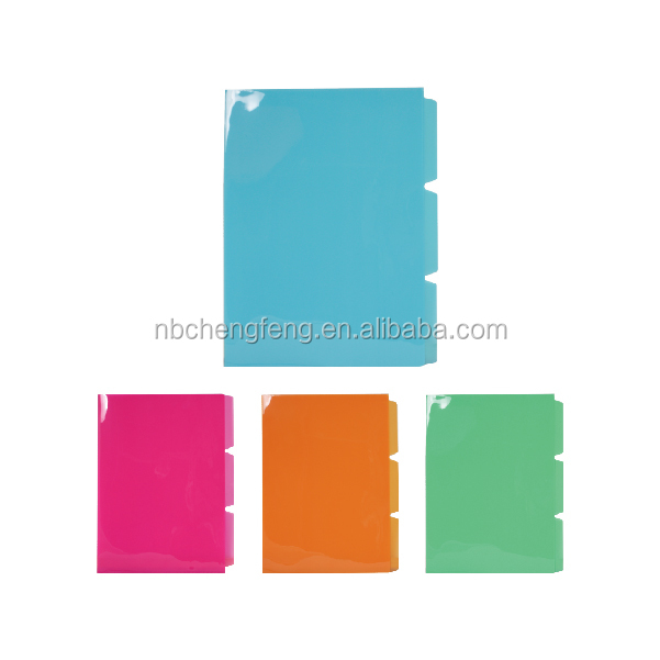 2016 pp plastic a4 file dividers for stationery file folder
