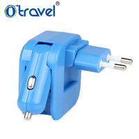 Otravel 2017 dual USB car charger with US EU UK AUS plugs Executive new Promotional products ideas gifts Items For Office
