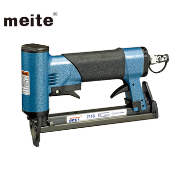 Meite 7116d Fine Wire Crown Upholstery Air Staple Gun Tacker Wood Frame Stapler For Furniture