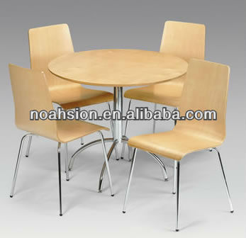 Bent Plywood Dining Chair With Metal Legs