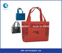 Plastic reusable vinyl tote shopping bag wholesale