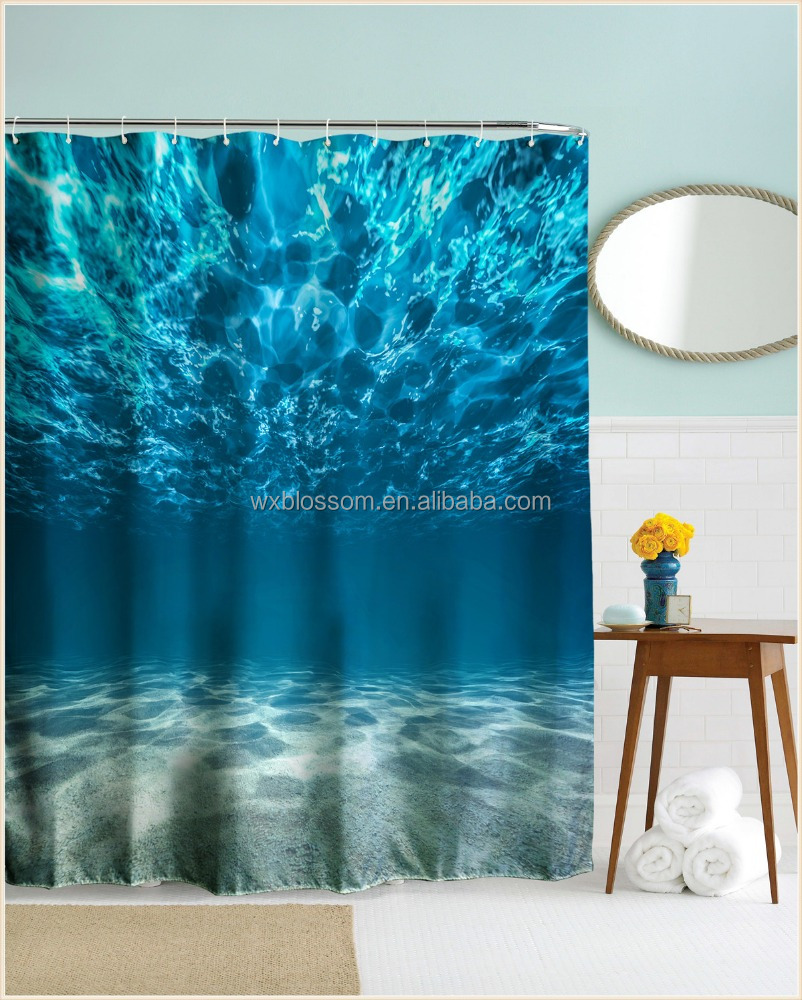 Wonderful photo printing polyester lady tramp shower curtain