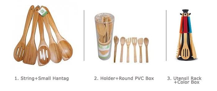 FSC/FDA High Quality 6PC Set Durable Cooking Wood Kitchen Utensil