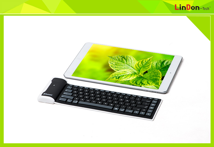 Mini Bluetooth Wireless Silent Silicone Keyboard For For Windows ...