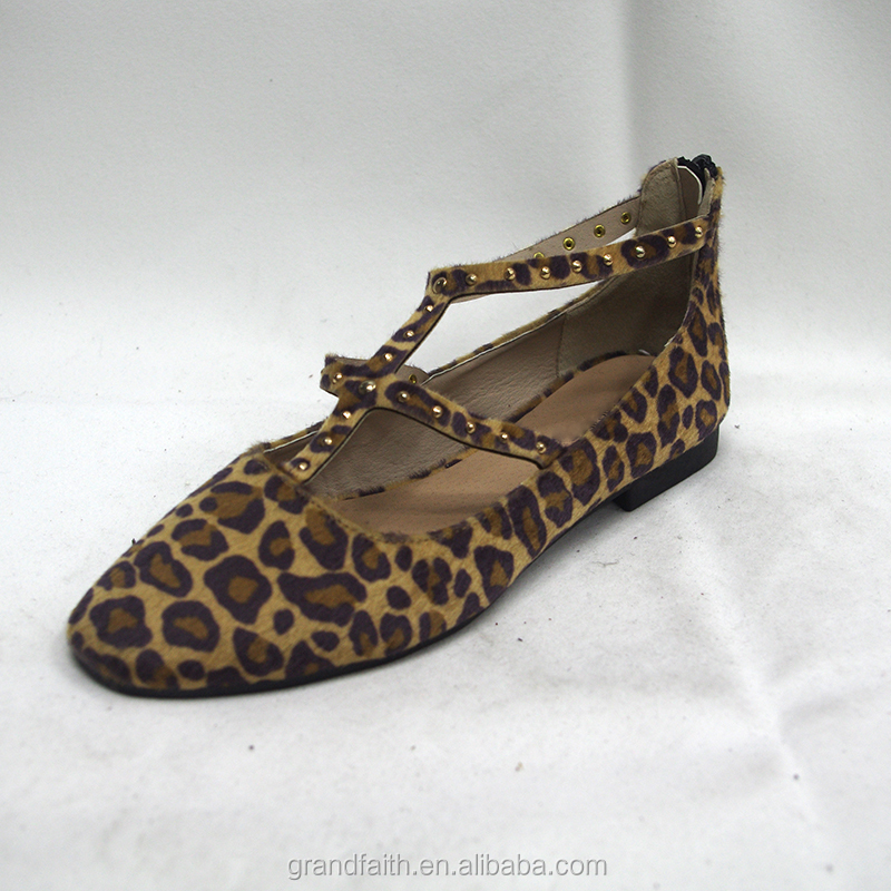Comfortable Leopard Print Ballerina