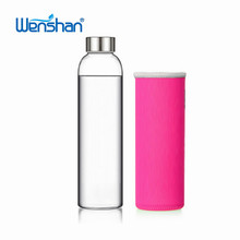 500ml fashion custom double wall glass tea infuser water bottle with silicone