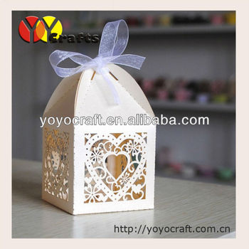 Laser Cut Indian Wedding Favour Box Wedding Gift Box With Ribbon