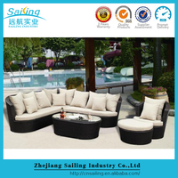 Classic Design Cane Rattan Wicker Garde Sofa Set Lawn And Patio Sofa Set