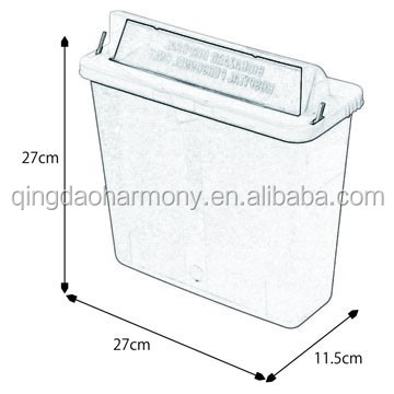 L01852 4.6L Wall Mounted Medical waste Sharps Container With Handle