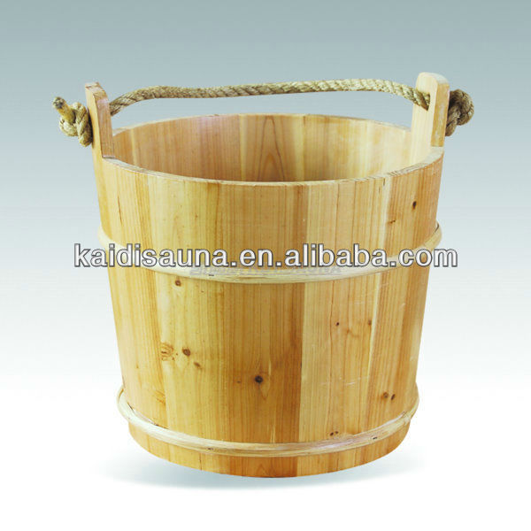 Sauna accessories 10L wooden Sauna bucket