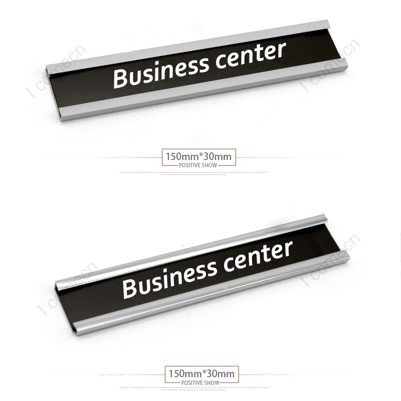 <strong>Metal</strong> , aluminum Gold, silver, black color sign holder with engraving plate door nameplate