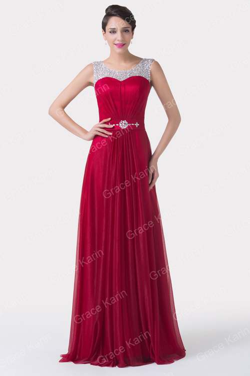 Grace Karin Sleeveless Beaded and Sequins Latest Design Formal ...