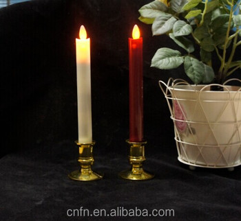 Birthday Candles With Holders Led Thin Pillar Decorative