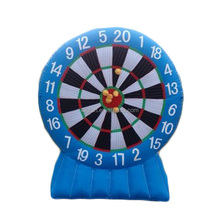 QIQU giant outdoor inflatable football dart board for sale / inflatable soccer darts games / inflatable golf dart boards