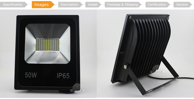 ip65 waterproof bridgelux 50w high lumen led outdoor flood light