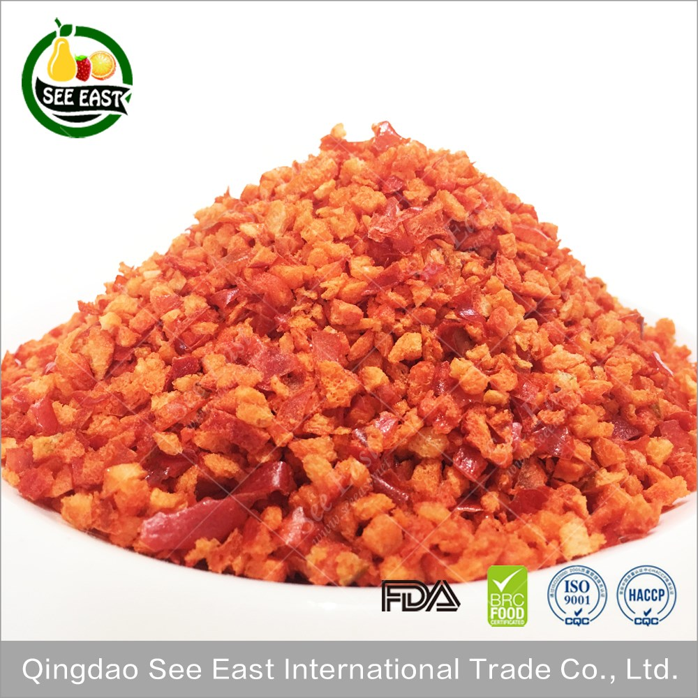 100% Natural Healthy Vegetable Freeze Dried Red Bell Pepper Price