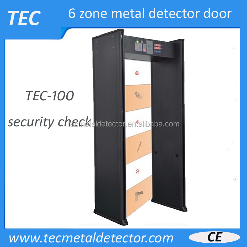 metal detector security checking door with side panel LEDS