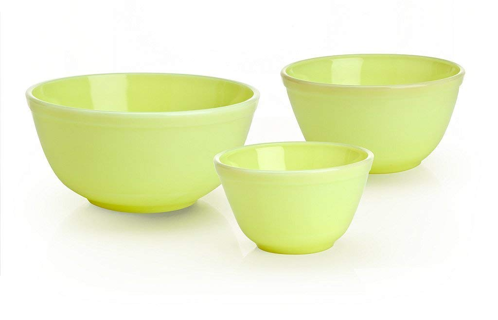 3 Piece Glass Mixing Bowl Set Color: Butter Cream