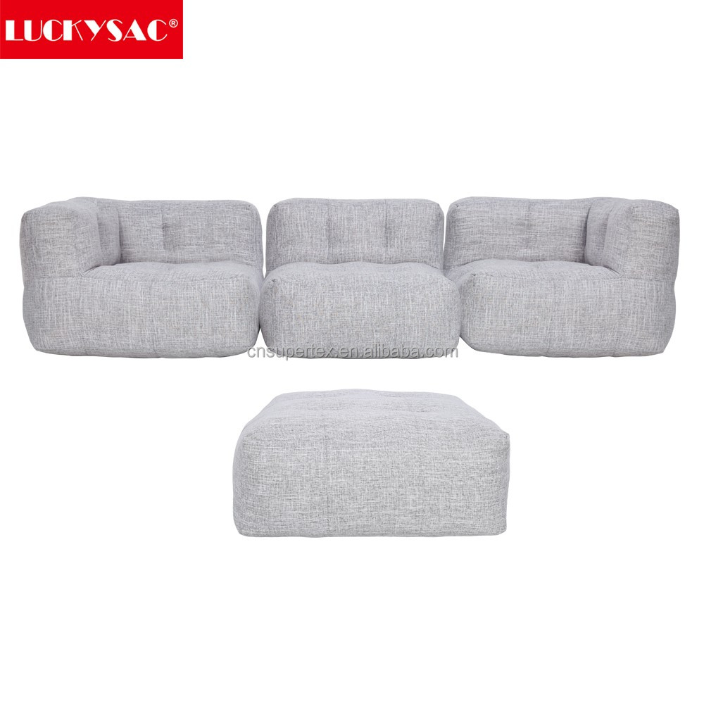 Sectional Sofa With Stool American Home Furniture Beanbag Single For Living Room And Study Room