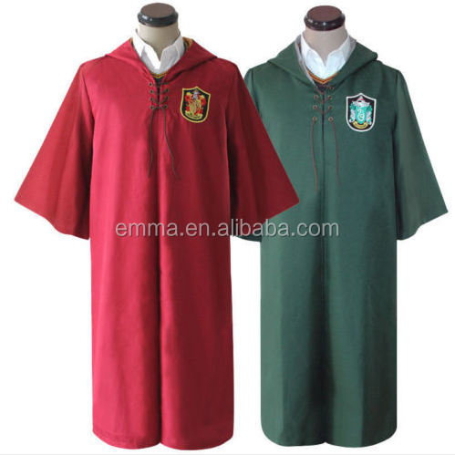 Volwassen Groen * Rode Zwerkbal Magic harry potter Mantel Uniform Kostuum Cosplay SE334